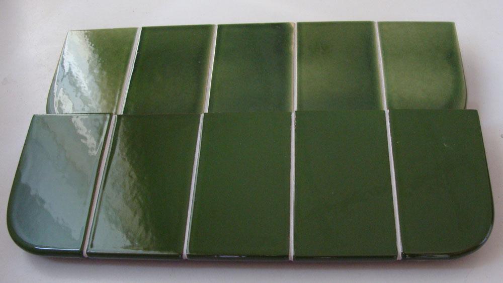 Parapet ceramiczny zielony